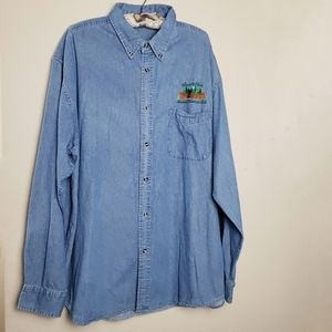 Forest & Hue denim long sleeves shirt size 2XL